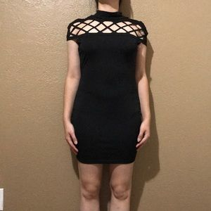 Sexy black cut out dress